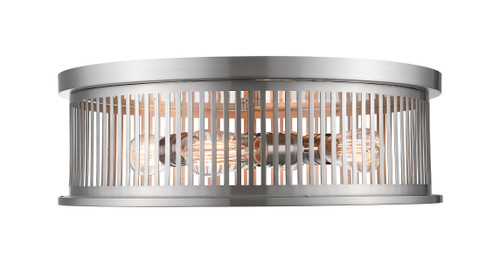Z-Lite Camellia Collection 4 Light Flush Mount in Brushed Nickel Finish, 334F4BN