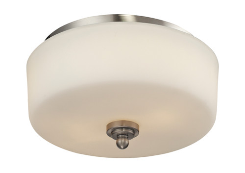 Z-Lite Cardinal Collection 2 Light Flush Mount in Brushed Nickel Finish, 434-F2-BN