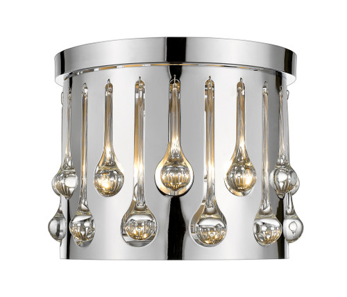 Z-Lite Oberon Collection 3 Light Flush Mount in Chrome Finish, 453RF13CH
