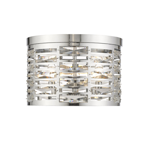 Z-Lite Cronise Collection 3 Light Flush Mount in Chrome Finish, 469F3-CH
