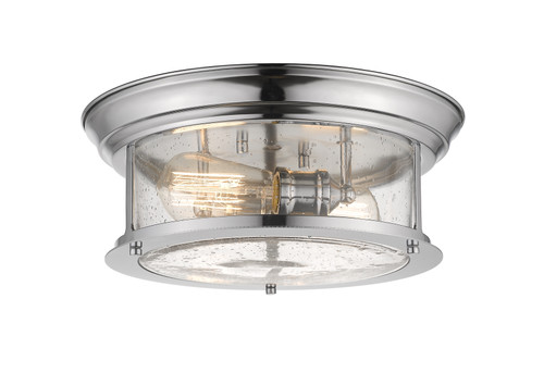 Z-Lite Sonna Collection 2 Light Flush Mount in Chrome Finish, 727F13-CH