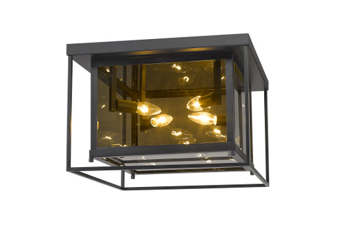 Z-Lite Infinity Collection 4 Light Flush Mount in Misty Charcoal Finish, 802F16-MC