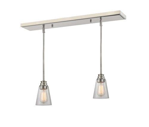 Z-Lite Annora Collection 2 Light Island/Billiard in Brushed Nickel Finish, 428MP-2BN