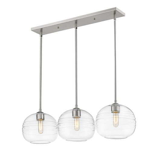 Z-Lite Harmony Collection 3 Light Island/Billiard in Brushed Nickel Finish, 486P10-3L-BN
