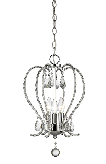Z-Lite Serenade Collection 3 Light Chandelier in Chrome Finish, 429-3-CH
