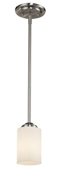 Z-Lite Cardinal Collection 1 Light Mini Pendant in Brushed Nickel Finish, 434-MP-BN
