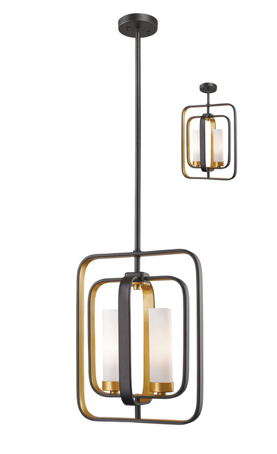 Z-Lite Aideen Collection 2 Light Mini Pendant in Bronze Gold Finish, 6000MP-BZGD