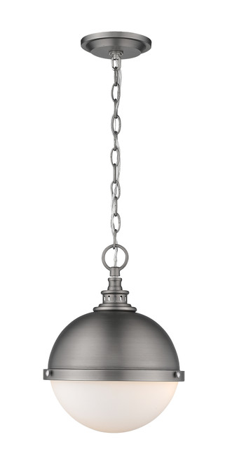Z-Lite Peyton Collection 2 Light Mini Pendant in Antique Nickel Finish, 619MP-AN