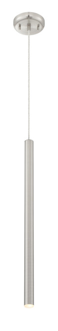 Z-Lite Forest Collection 1 Light Mini Pendant in Brushed Nickel Finish