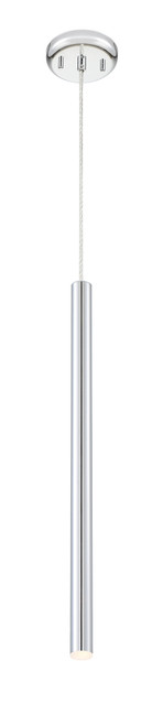 Z-Lite Forest Collection 1 Light Mini Pendant in Chrome Finish