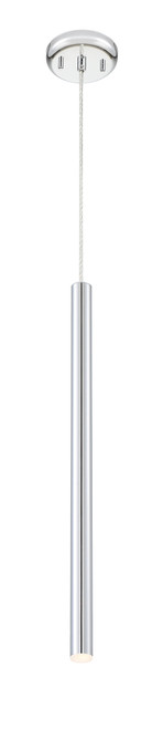 Z-Lite Forest Collection 1 Light Mini Pendant in Chrome Finish, 917MP24-CH-LED