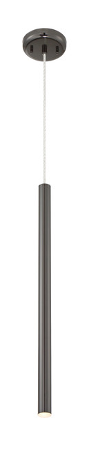 Z-Lite Forest Collection 1 Light Mini Pendant in Pearl Black Finish, 917MP24-PBL-LED