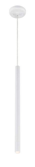 Z-Lite Forest Collection 1 Light Mini Pendant in Matte White Finish, 917MP24-WH-LED