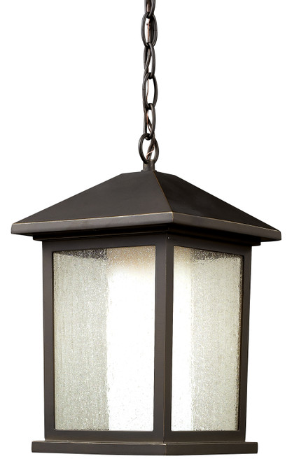 Z-Lite Mesa Collection 1 Light Outdoor Chain Light in Oil Rubbed Bronze Finish, 524CHB