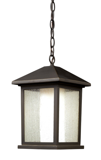 Z-Lite Mesa Collection Outdoor Chain Light in Oil Rubbed Bronze Finish, 524CHM