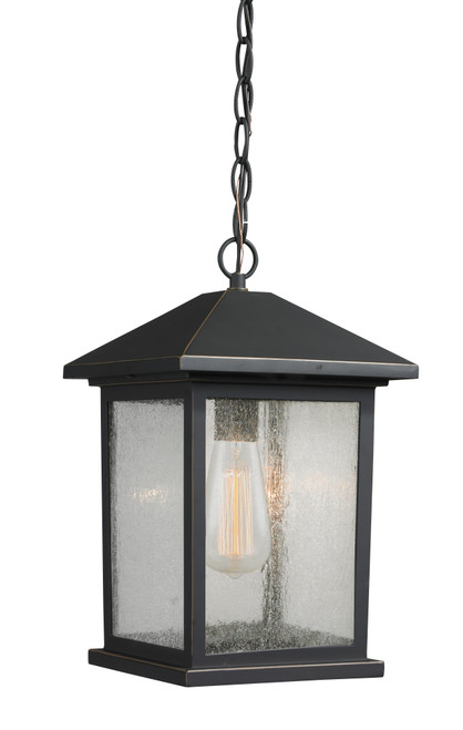 Z-Lite Portland Collection 1 Light Outdoor Chain Light in Oil Rubbed Bronze Finish, 531CHM-ORB