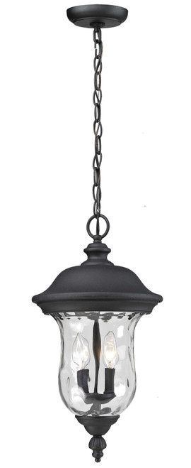 Z-Lite Armstrong Collection Outdoor Chain Light in Black Finish, 533CHM-BK