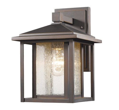 Z-Lite Aspen Collection 1 Light Outdoor in Oil Rubbed Bronze Finish, 554S-ORB