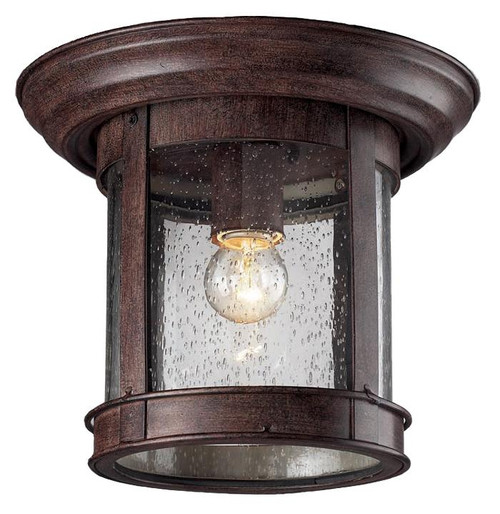 Z-Lite Outdoor Flush Mount Collection Outdoor Flush Mount Light in Weathered Bronze Finish, 515F-WB