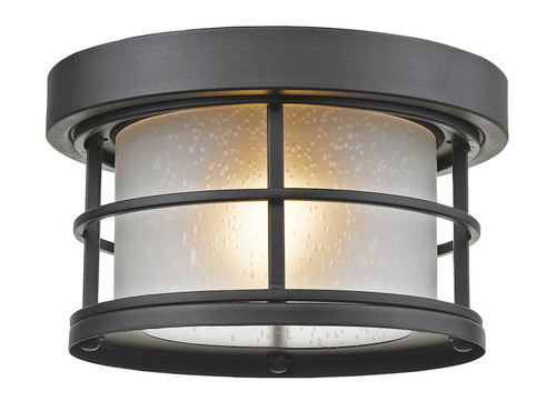 Z-Lite Exterior Additions Collection 1 Light Outdoor in Black Finish, 556F-BK