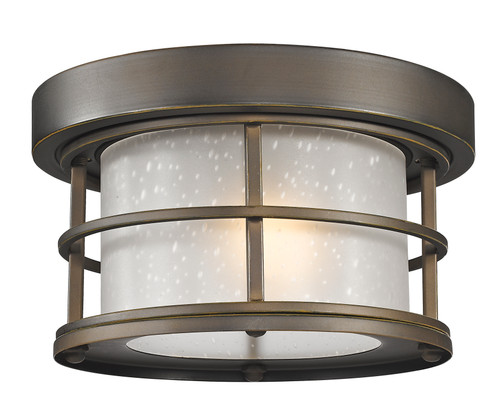 Z-Lite Exterior Additions Collection 1 Light Outdoor in Oil Rubbed Bronze Finish, 556F-ORB