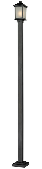 Z-Lite Holbrook Collection Outdoor Post Light in Black Finish, 537PHM-536P-BK