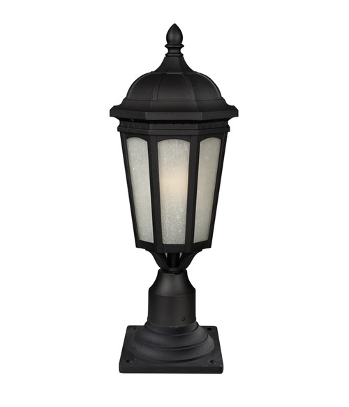 Z-Lite Newport Collection 1 Light Outdoor Post Mount Light in Black Finish