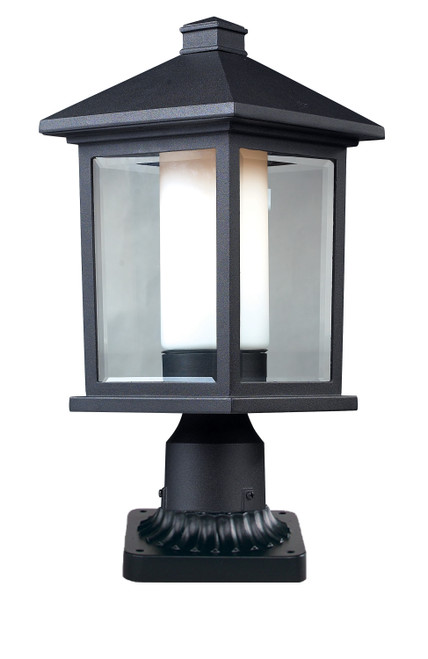 Z-Lite Mesa Collection Outdoor Pier Mount Light in Black Finish, 523PHM-PM