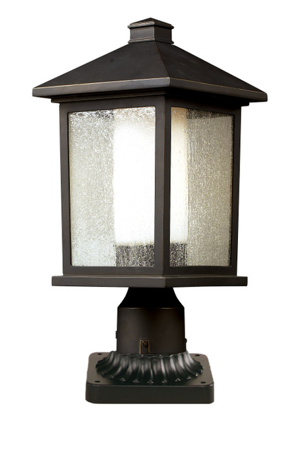 Z-Lite Mesa Collection Outdoor Pier Mount Light in Oil Rubbed Bronze Finish, 524PHM-PM