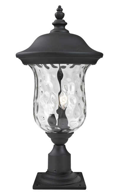 Z-Lite Armstrong Collection Outdoor Post Mount Light in Black Finish, 533PHM-533PM-BK
