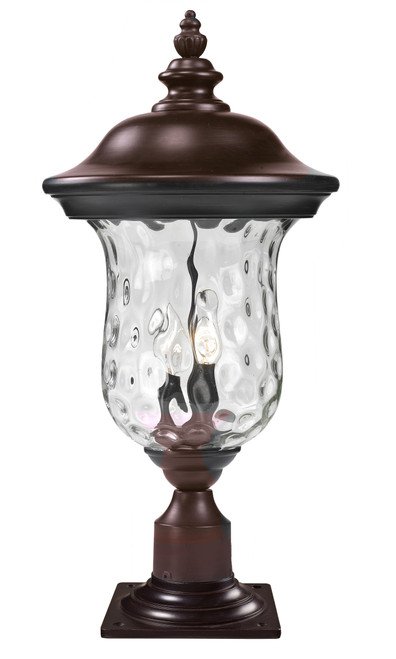 Z-Lite Armstrong Collection Outdoor Post Mount Light in Bronze Finish, 533PHM-533PM-RBRZ