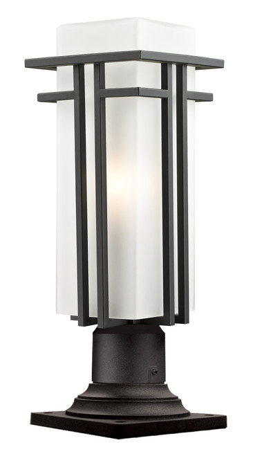 Z-Lite Abbey  Collection Outdoor Pier Mount Light in Outdoor Rubbed Bronze Finish, 550PHMR-533PM-ORBZ