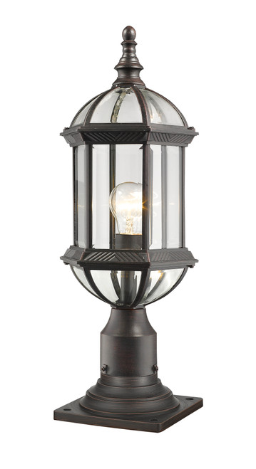 Z-Lite Annex Collection 1 Light Outdoor Pier Mount in Rust Finish, 563PHM-533PM-RT