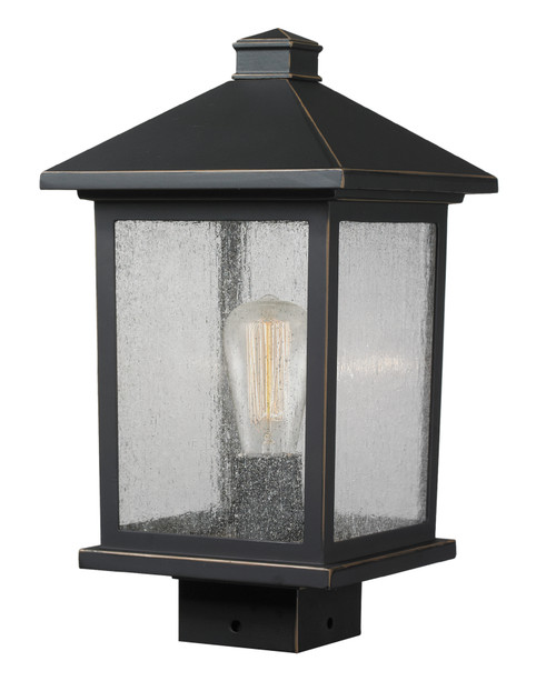 Z-Lite Portland Collection 1 Light Post Mount Light in Oil Rubbed Bronze Finish, 531PHMS-ORB