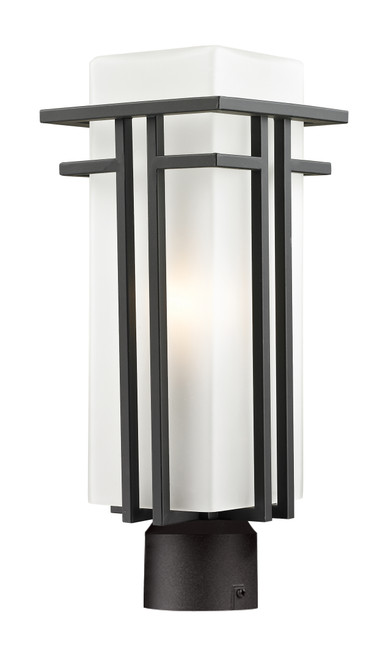 Z-Lite Abbey Collection Outdoor Post Light in Outdoor Rubbed Bronze Finish, 550PHM-ORBZ-R