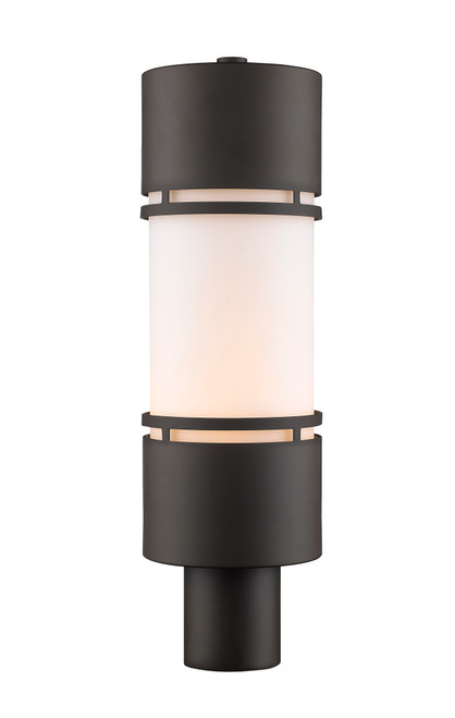 Z-Lite Luminata Collection Outdoor LED Post Mount Light in Deep Bronze Finish, 560PHB-DBZ-LED