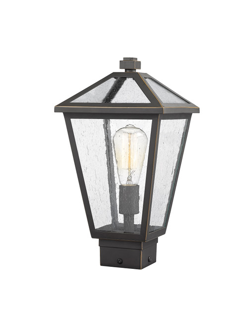 Z-Lite Talbot Collection 1 Light Outdoor Post Mount Fixture in Oil Rubbed Bronze Finish, 579PHMS-ORB