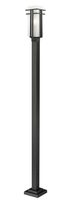 Z-Lite Abbey  Collection Outdoor Post Light in Black Finish, 549PHB-536P-BK