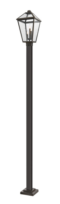 Z-Lite Talbot Collection 3 Light Outdoor Post Mounted Fixture in Oil Rubbed Bronze Finish, 579PHXLS-536P-ORB