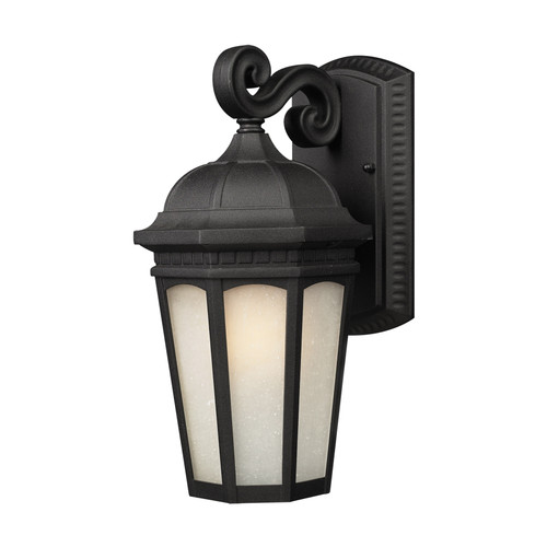 Z-Lite Newport Collection Outdoor Wall Light in Black Finish, 508S-BK