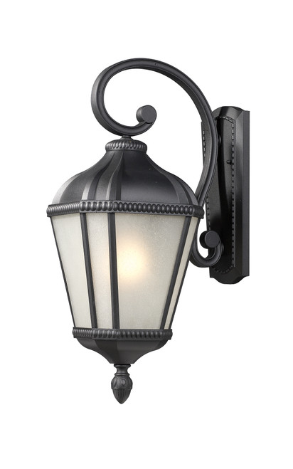Z-Lite Waverly Collection Outdoor Wall Light in Black Finish, 513S-BK