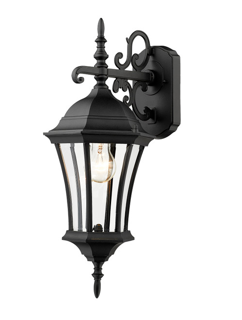 Z-Lite Wakefield Collection Outdoor Wall Light in Black Finish, 522S-BK
