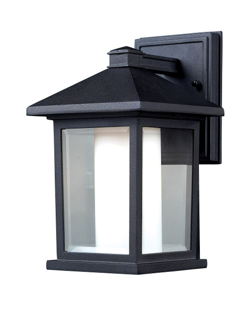 Z-Lite Mesa Collection Outdoor Wall Light in Black Finish, 523S