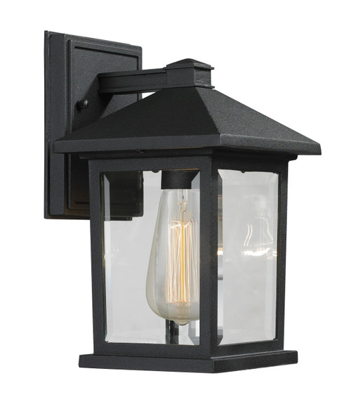 Z-Lite Portland Collection 1 Light Outdoor Wall Light in Black Finish, 531S-BK