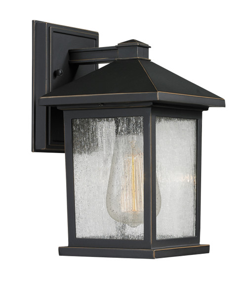 Z-Lite Portland Collection 1 Light Outdoor Wall Light in Oil Rubbed Bronze Finish, 531S-ORB