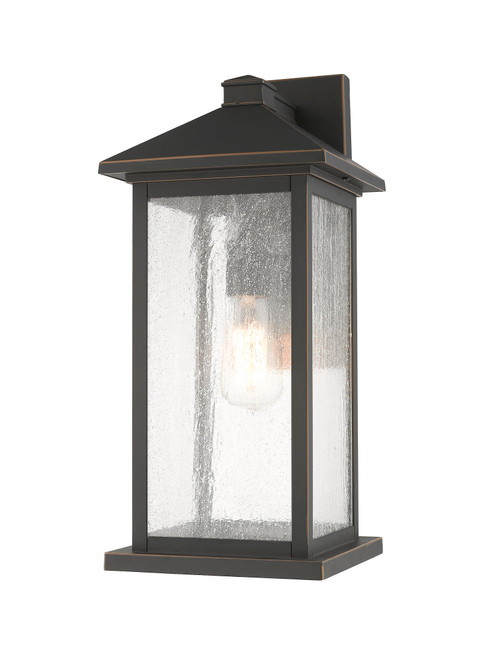 Z-Lite Portland Collection 1 Light Outdoor Wall Sconce in Oil Rubbed Bronze Finish, 531MXL-ORB