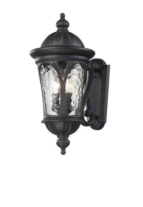 Z-Lite Doma Collection 3 Light Outdoor Light in Black Finish, 543M-BK