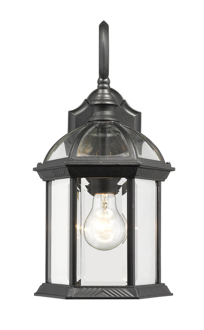 Z-Lite Annex Collection 1 Light Outdoor Wall Light in Black Finish, 563M-BK