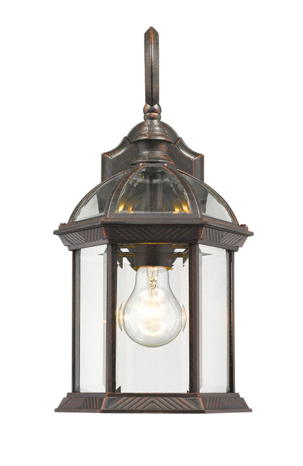 Z-Lite Annex Collection 1 Light Outdoor Wall Light in Rust Finish, 563M-RT