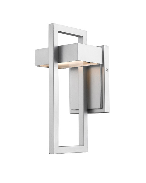Z-Lite Luttrel Collection 1 Light Outdoor Wall Sconce in Silver Finish, 566S-SL-LED